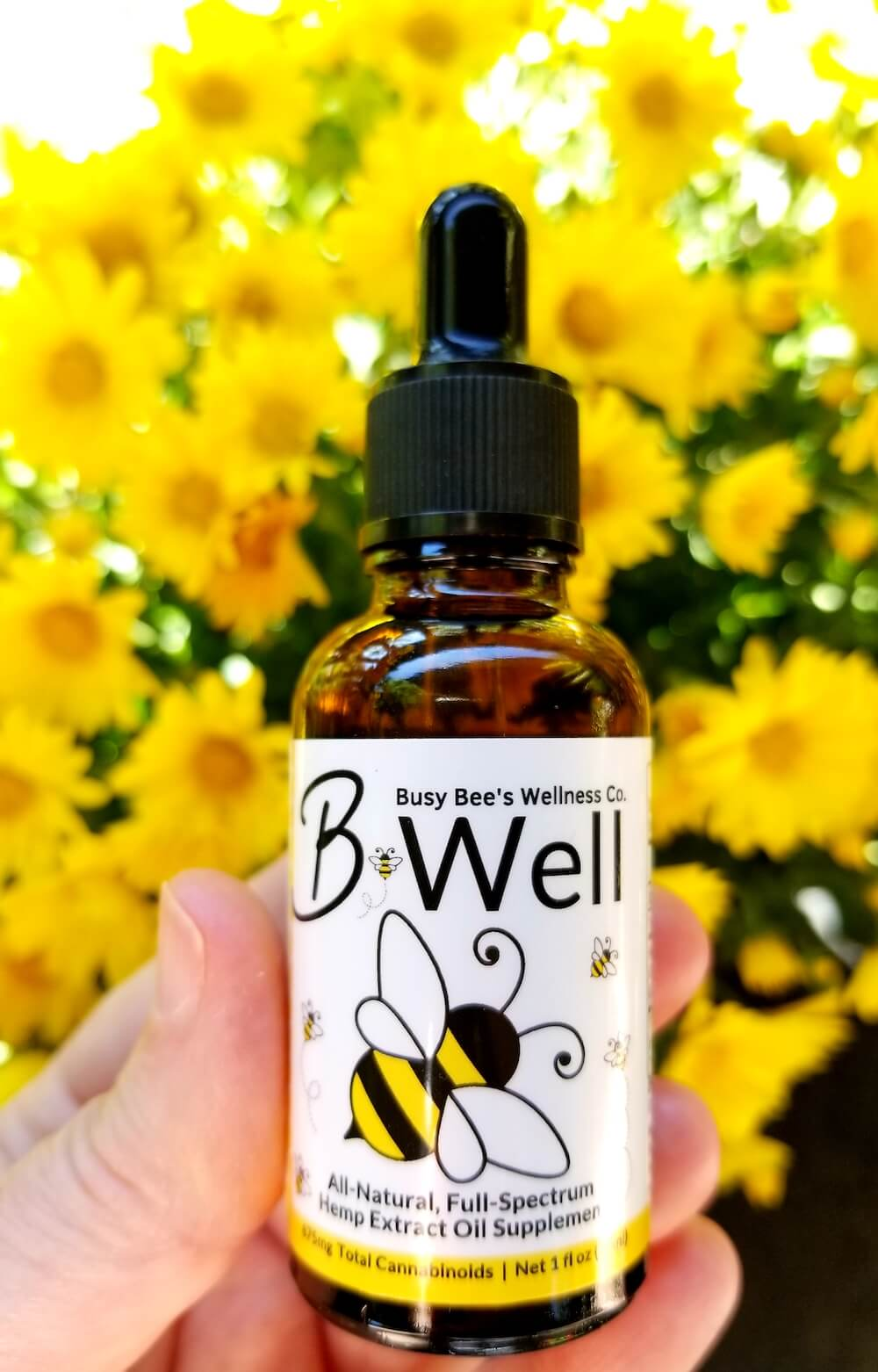 Busy Bee's B-Well is a powerful combo of CBD + CBDA oil made from organically grown Oregon full spectrum hemp