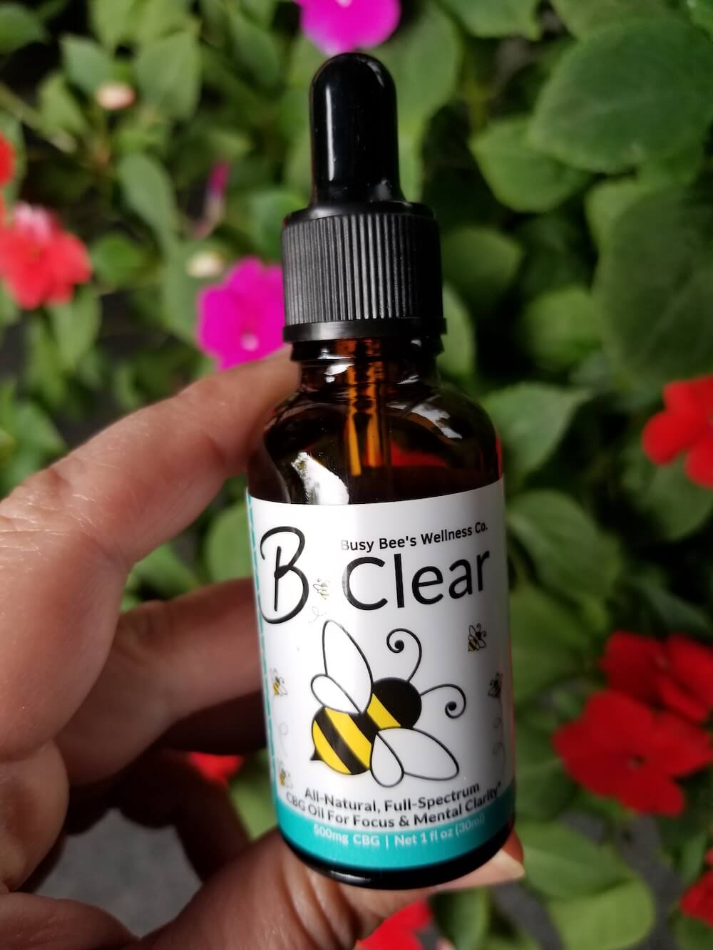 Busy Bee's B-Clear CBD Oil for brain and gut health